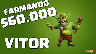 Clash of Clans - (farmando 560 mil de recursos) Vitor