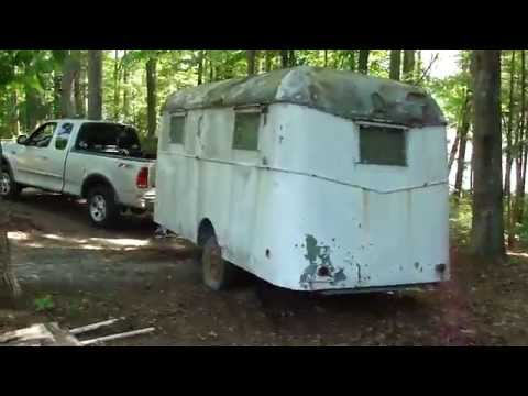"SUPER RARE 1941 OLD ANTIQUE ""WILEY"" CAMPER FOUND * SAVED FROM CRUSHER 73YRS. OLD WOW!"