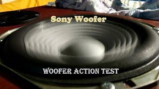 Sony Woofer - Woofer Action test