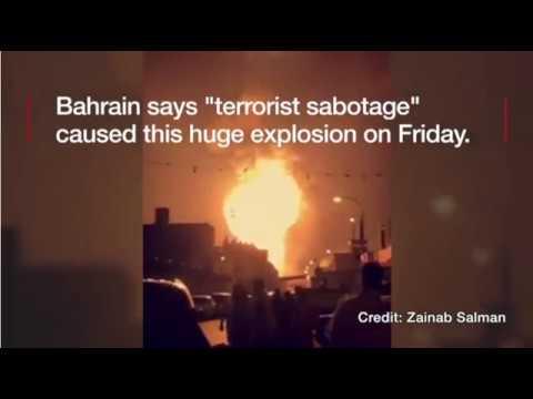 Oil Pipeline Explodes In Bahrain