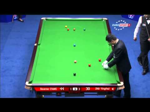Reanne Evans - Zhu Yinghui (Frame 5) Snooker Wuxi Classic 2013 - Wildcard Round