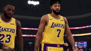 Lakers vs 76ers Full Game Highlights   NBA Today 1/25 Los Angeles vs Philadelphia (NBA 2K)