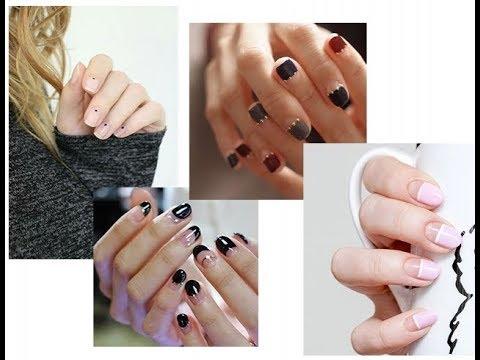 Маникюр чтобы не было видно отросших ногтей