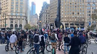 HUNDREDS of BMX RIDERS FLOOD NYC STREETS!