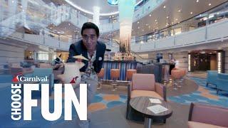 The Vista Effect with Zach King: Atrium (360 Video)   Meet Carnival Vista   Carnival Cruise Line