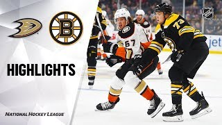 Ducks @ Bruins 10/14/19 Highlights