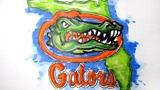 College Logo Series:  Florida Gators (Univ. of Florida) Time Lapse Drawing