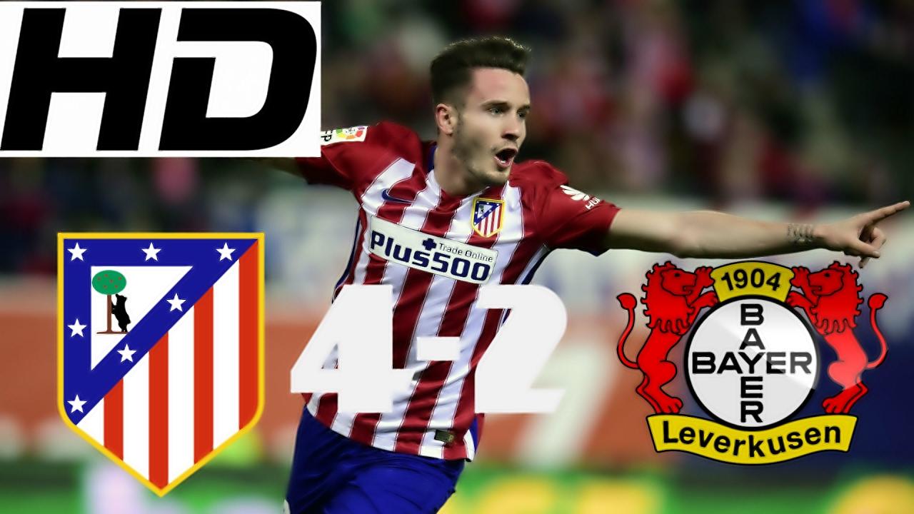 Bayer Leverkusen Vs Atletico Madrid 2 4 All Goals Highlights 22 02 2017 Champions League Youtube