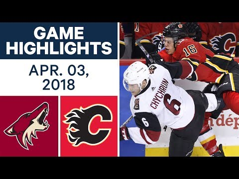 NHL Game Highlights | Coyotes vs. Flames - Apr. 03 2018