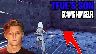 FaZe Tfue Son Scams Himself! (Scammer Gets Scammed) Fortnite Save The World