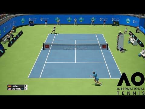 Tatjana Maria vs Sloane Stephens - AO International Tennis - PS4 Gameplay