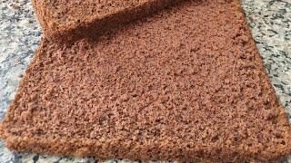 Bolo Pão de Ló de Chocolate para Rechear e Confeitar