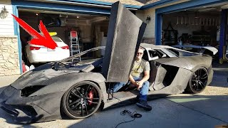 A Man Bought a 3D printer and Printed a Lamborghini with his son in their Garage