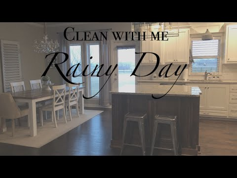 CLEAN WITH ME | RAINY DAY | RELAXING CLEANING VIDEO