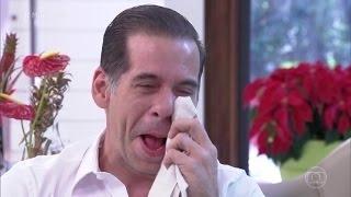 Leandro Hassum chora com recado da filha Pietra 'Mais Você' 08/12/2016