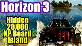 Hidden XP Board On The Island - FORZA HORIZON 3 wheel gameplay #10