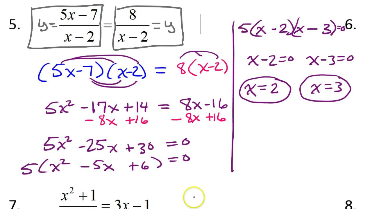how to solve rational equations step by step