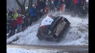 best of Rallye Monte Carlo 2018 flat out crash and snow