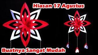 DIY - Hiasan 17 Agustus Dari Kertas | Dekorasi 17 Agustus | Bunga Merah Putih