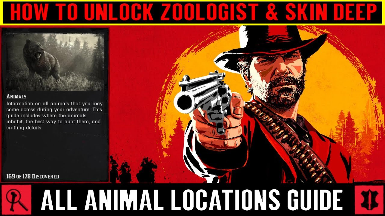 All Animal Locations Guide for Zoologist & Skin Deep - Red