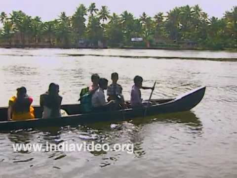 The sprawling backwaters of Kerala