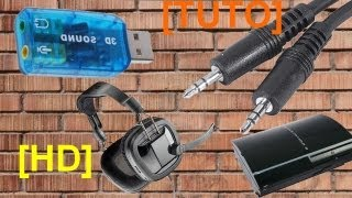 [TUTO/PS3/HD720]Brancher un casque Audio/Microphone Jack PC en USB sur PS3 !!!