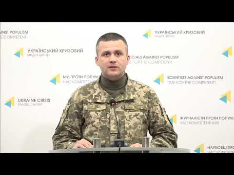 Col. Dmytro Hutsulyak, Ministry of Defense of Ukraine spokesperson. UCMC 04.02.2018