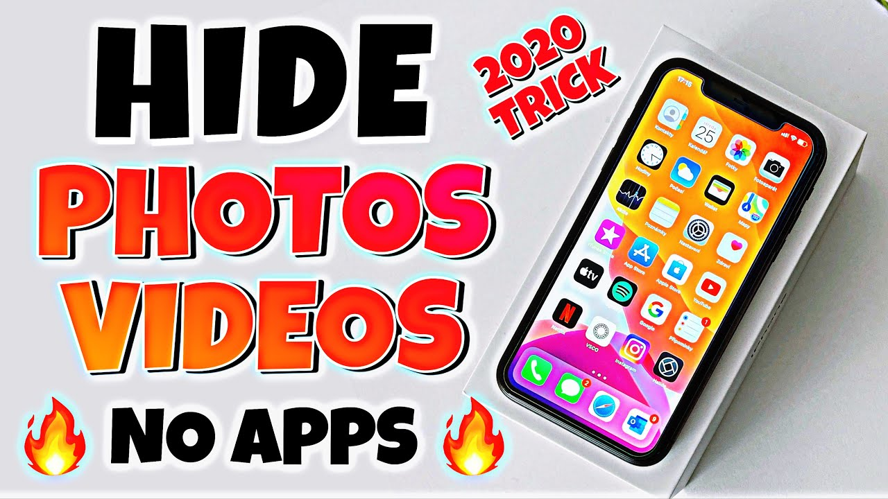 How To Hide Photos And Videos In Iphone Without Any Apps 2020 I Hide Hidden Album On Iphone 2020 Youtube