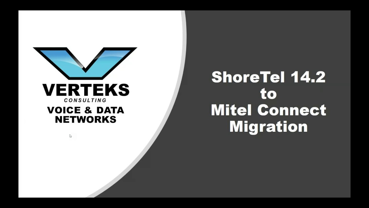 ShoreTel 14 2 to Mitel Connect Migration Information