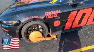 Американский гонщик попал на штраф за парковку без разрешения