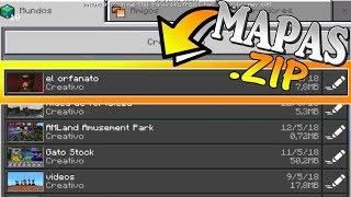 ¿Como colocar MAPAS con .ZIP en Minecraft PE? | PASO A PASO | Dleo