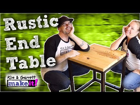 How To Make A DIY Rustic End Table | Living Room End Table