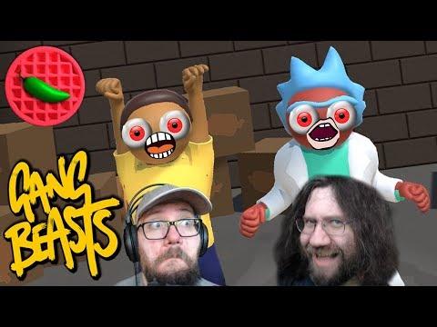 RICK AND MORTY RUMBLE! -- Gang Beasts (Beta 0.5.7) (Local Versus)