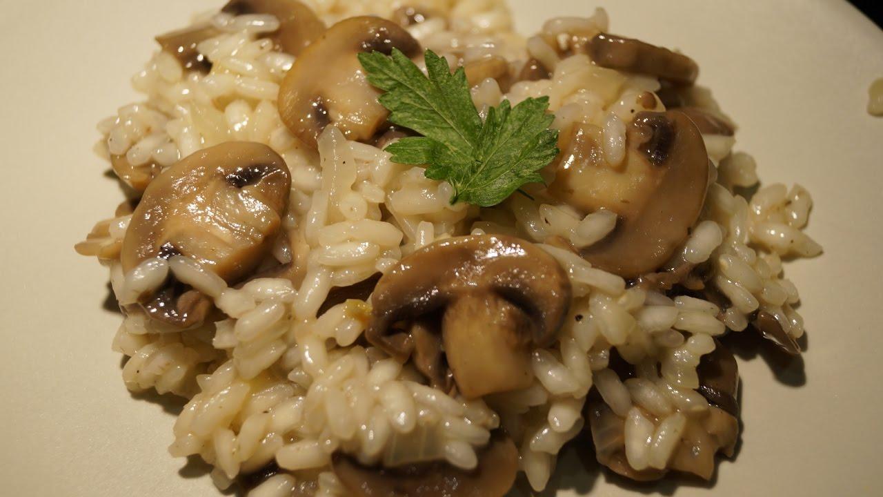 Risotto aux champignons crémeux sans crème - YouTube