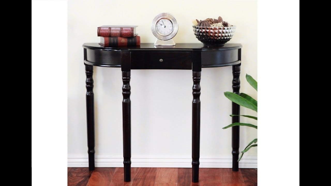 Half Moon Entry Table Ideas