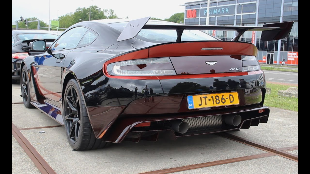 Aston Martin Gt12 Loud Exhaust Sound Accelerations Youtube