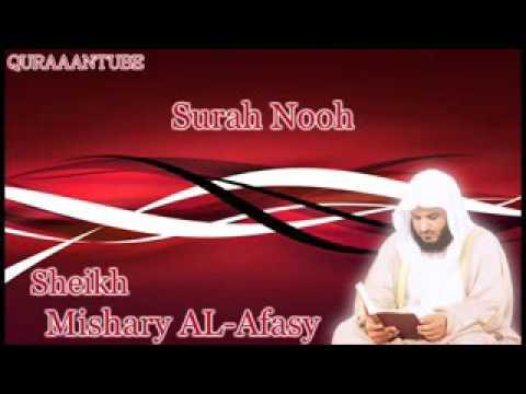 Mishary al afasy Surah Nooh  full  with audio english translation