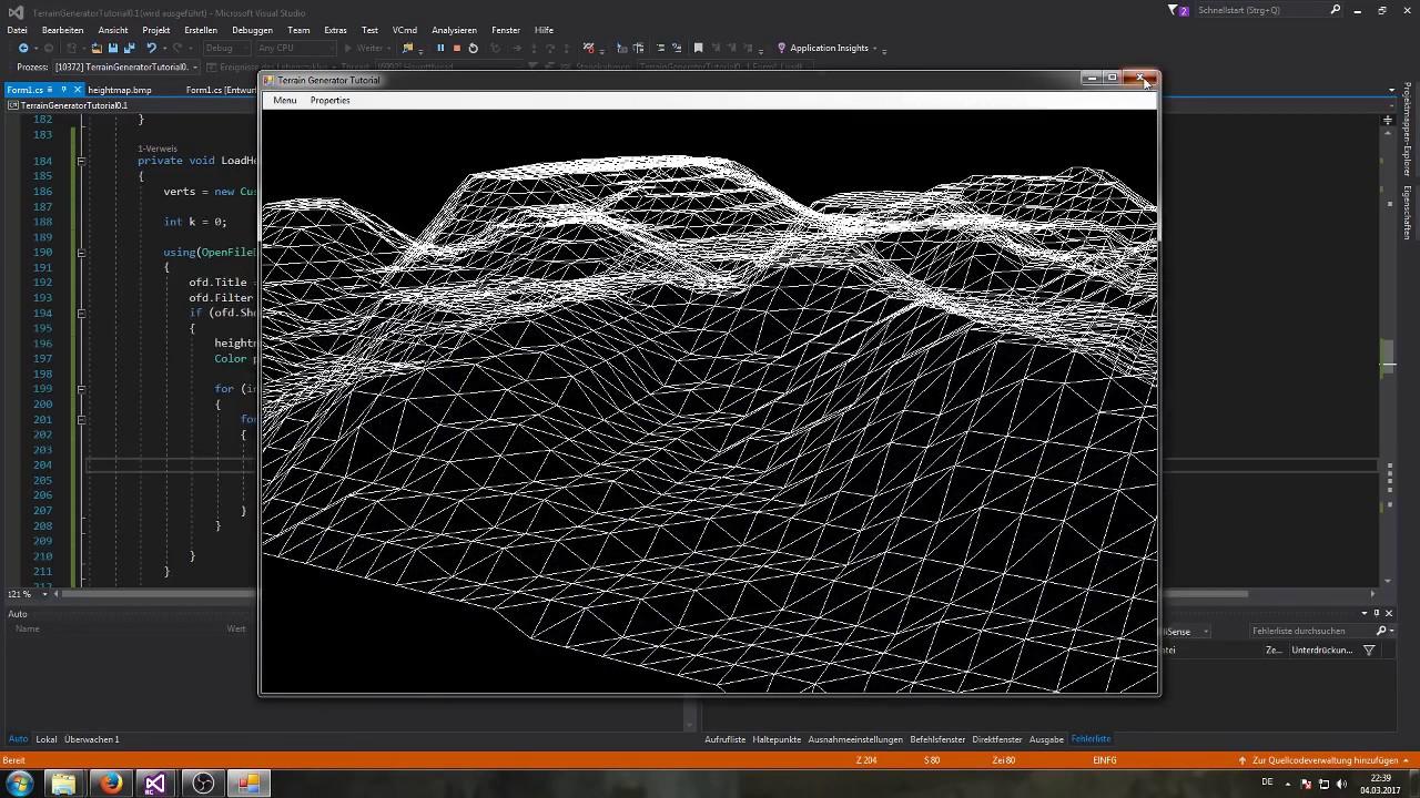 10 - Heightmap (DirectX + C# 3D Terrain Generator Tutorial)