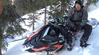 Chris Burandt talks to the Sled Junkies about the 2016 Polaris Axys Pro RMK