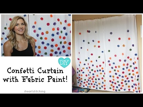 Confetti Curtain DIY