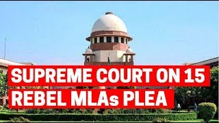 Karnataka Crisis: Rebel MLA's can't be forced to participate in trust vote, says SC