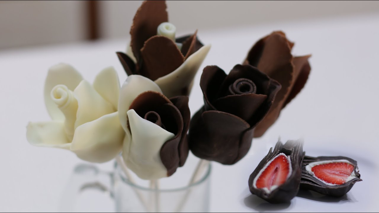 How To Make Chocolate Strawberry Roses For Cheap Youtube