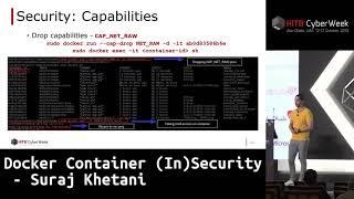 #HITBCyberWeek #CommSec Docker Container (In)Security - Suraj Khetani