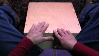 How to play a classic rock beat on the cajon