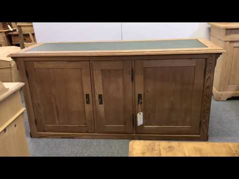 Antique Pine Shop Counter c.1920's (Kitchen Island)  - Pinefinders Old Pine Furniture Warehouse