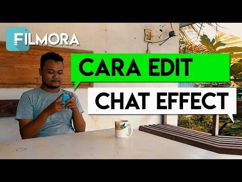 Cara Edit Efek Chat Pop Up Video Di Filmora
