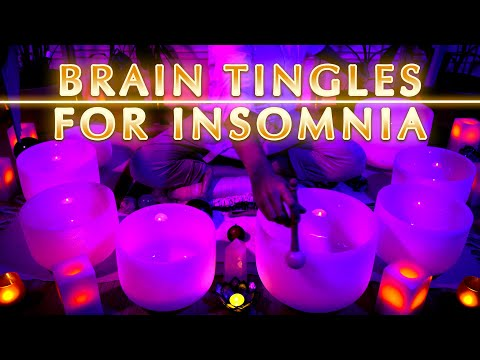 Insomnia Brain Tingles | Brain Massage For Sleepless Nights | Sound Bath | Sleep Sounds | Meditation