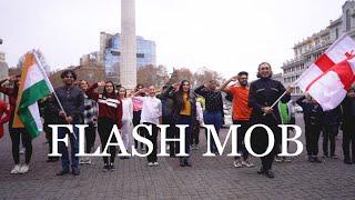 Flash Mob in Georgia:Muqabla, Akhiyon Se Goli Maare, Sauda Khara Khara, Hindustani & Georgian Dance