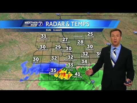 A light wintry mix south of Omaha Sunday morning