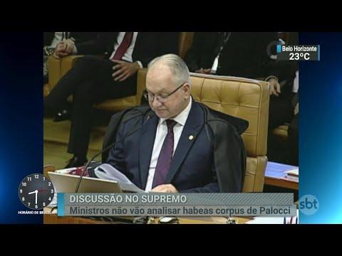 STF adia julgamento do habeas corpus de Antônio Palocci   SBT Brasil (11/04/18)